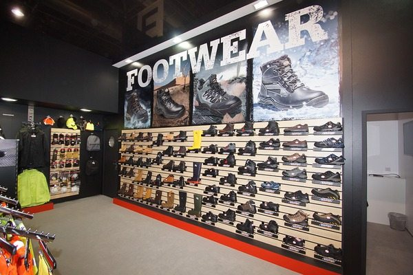 Footwear section on the Dickies Stand in Dusseldorf